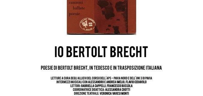 Io Bertolt Brecht, Recital di Poesie e di Canto