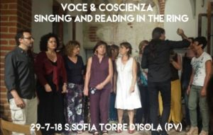 V&C singing and Reading in the Ring - Torre d'Isola PV