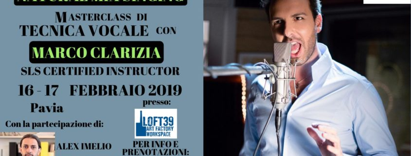 NMS® e V&C Masterclass di tecnica vocale Clarizia/Imelio a Pavia
