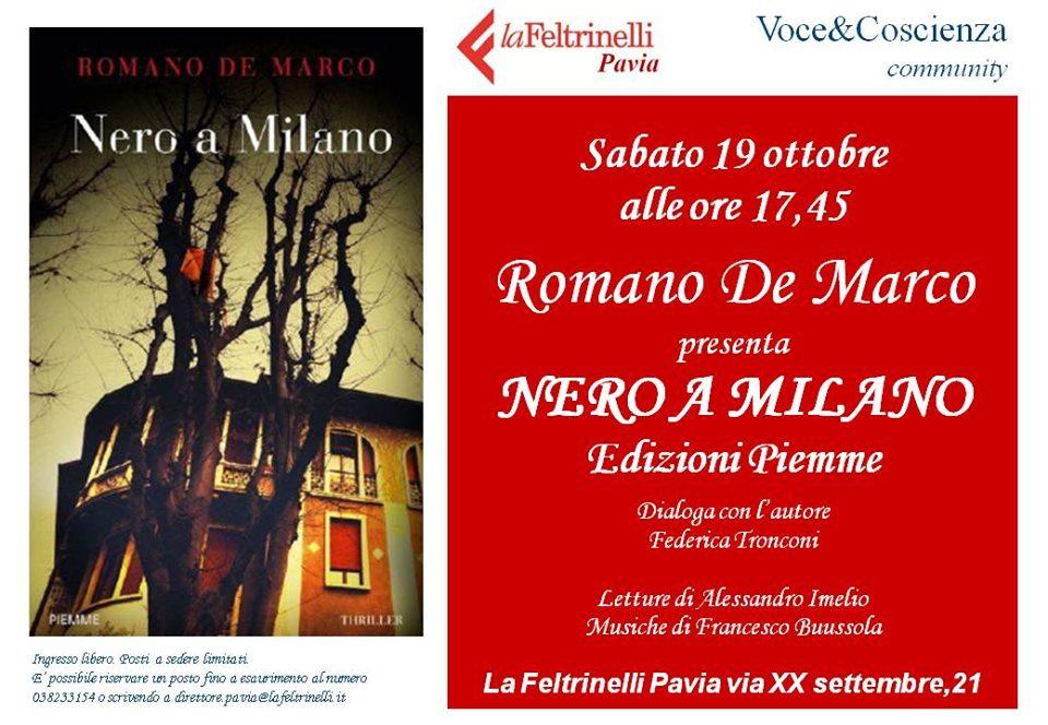 Romano de Marco presenta Nero a Milano