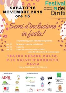 Semi d'inclusione in festa - Festival dei diritti 2019 - Locandina
