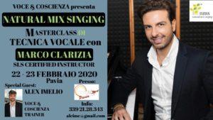 NMS® e V&C Masterclass di tecnica vocale Clarizia-Imelio a Pavia febbraio 2020