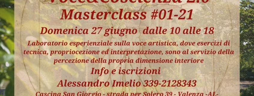 Masterclass Voce&Coscienza 2.0 - 01-21 a Cascina San Giorgio
