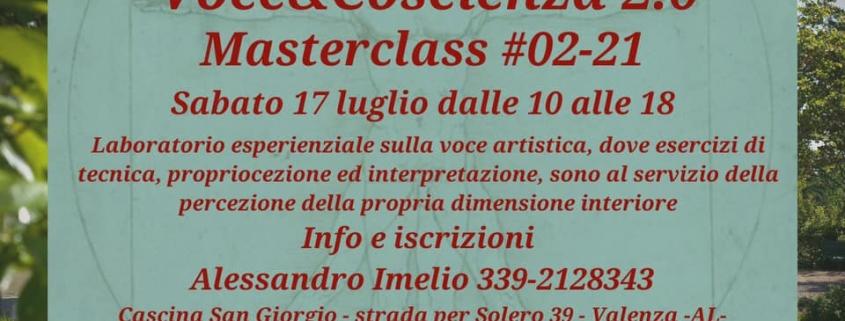 Masterclass Voce&Coscienza 2.0 - 02-21 a Cascina San Giorgio Monferrato